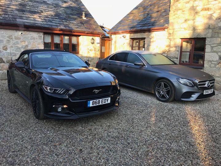 V8 Mustang & Mercedes