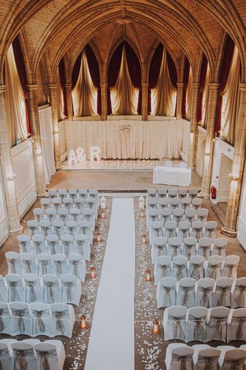 The Great Hall ready for your ceremony