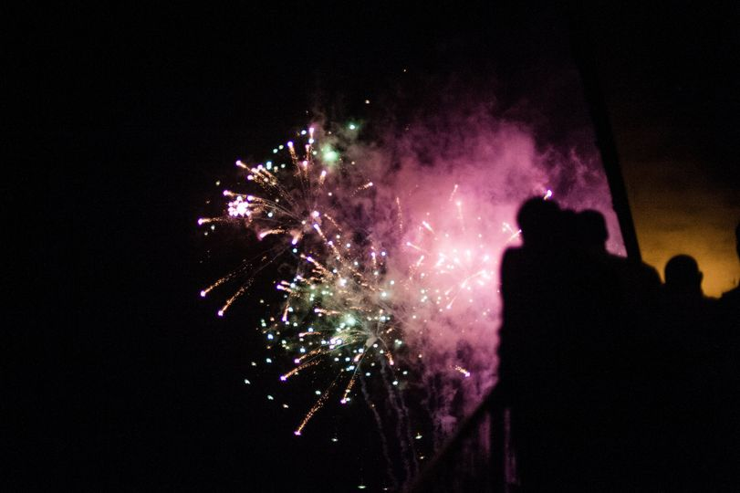 Coastal fireworks