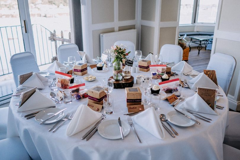 Beautiful table settings in our Riverbank Suite