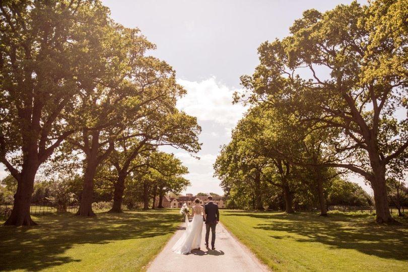 Oak-lined Driveway