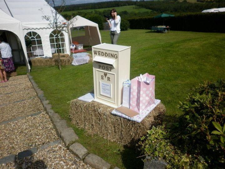Ivory post box at a wedding