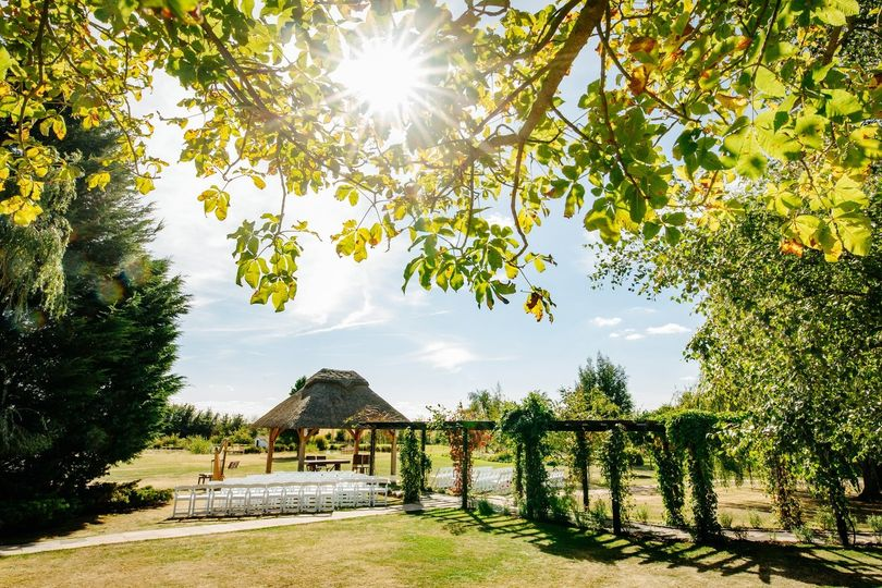 Thatched gazebo for outdoor ceremonies