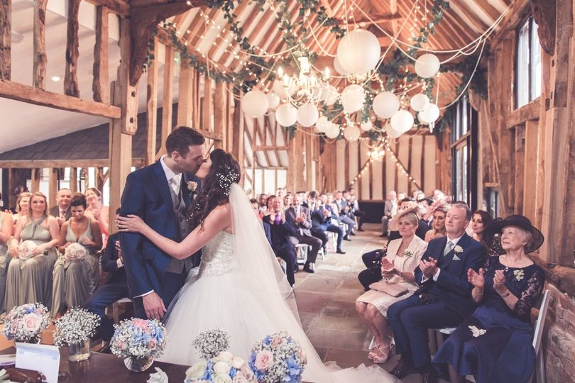 Our barn is magical for indoor ceremonies