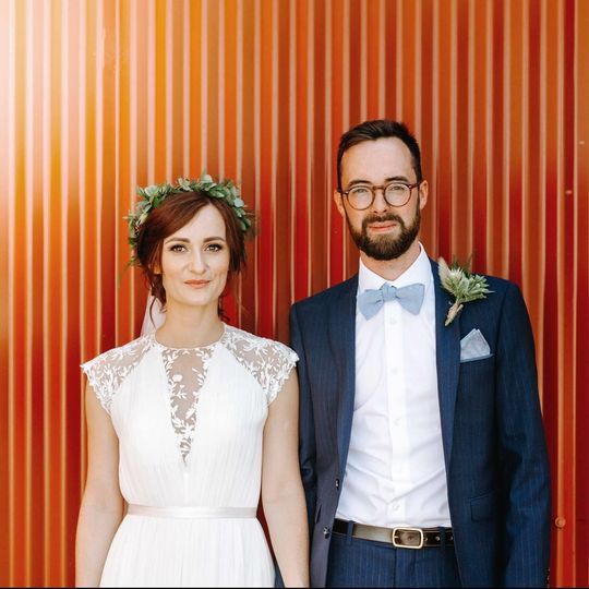 Portrait of the happy couple - Emma Kenny Weddings