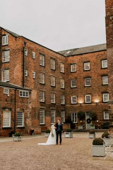 Couple outside the venue - Emma Kenny Weddings