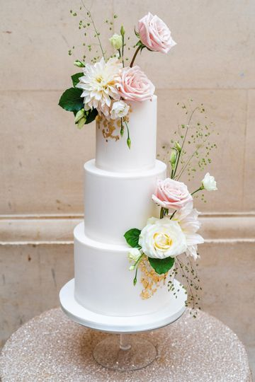 Three tiered cake