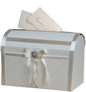 Ivory Elegant wedding post box