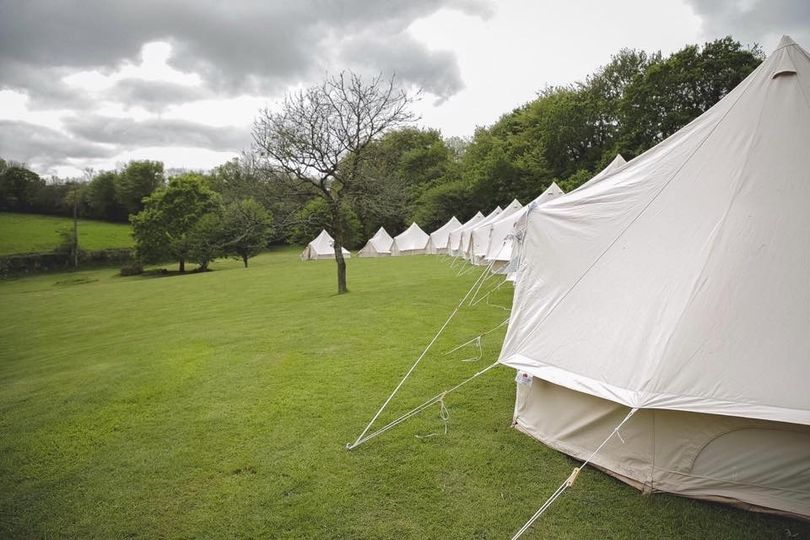 A field of tents