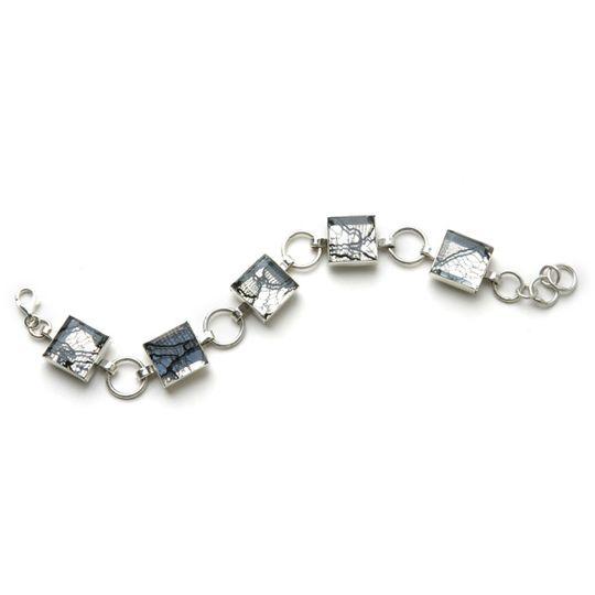 Lace in Silver Tablet Bracelet