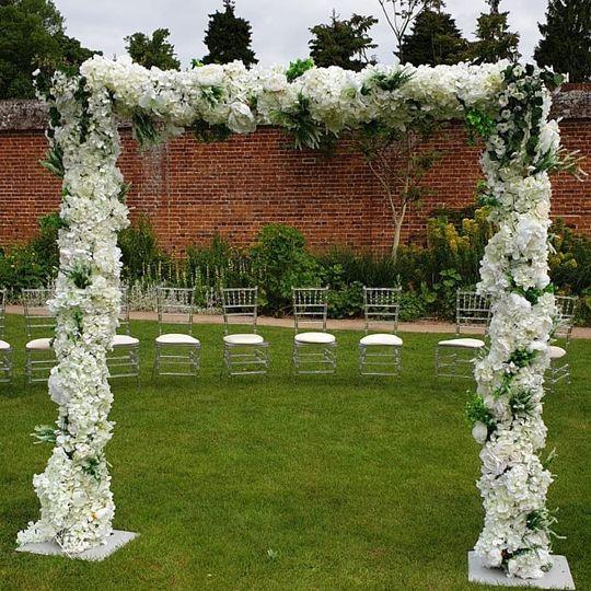 Floral entrance arch