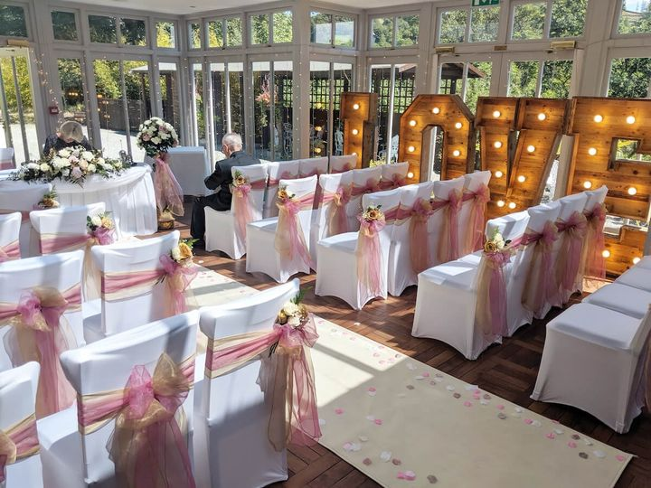 The Orangery Wedding Ceremony at Broadoaks in Windermere