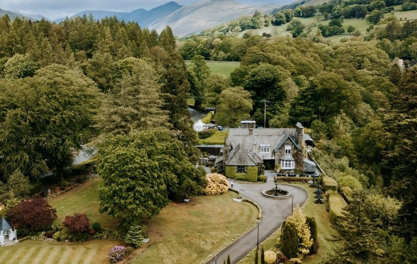 Aerial View of Broadoaks Country House