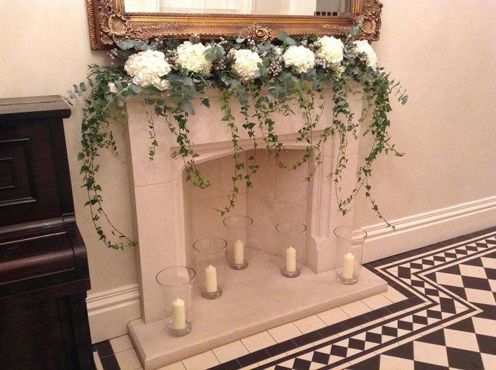 Mantlepiece flowers