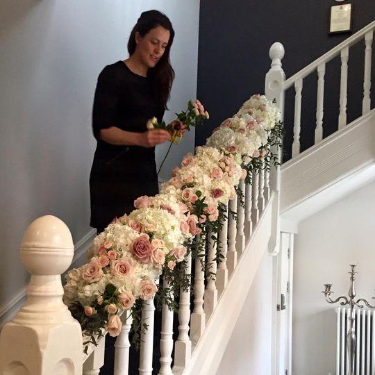 Banister flowers