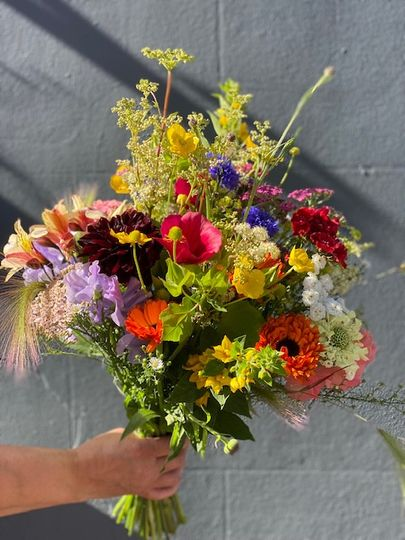 Locally grown bridal bouquet