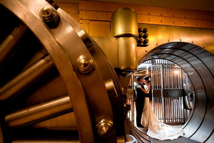 Couple in a vault