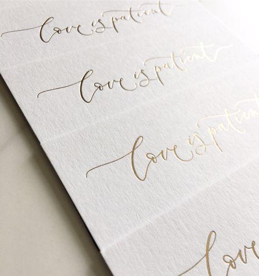 Example of Luxury Wedding Stationery - Hot foiling