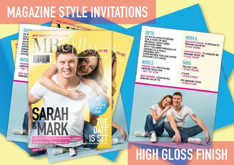 Magazine invitation