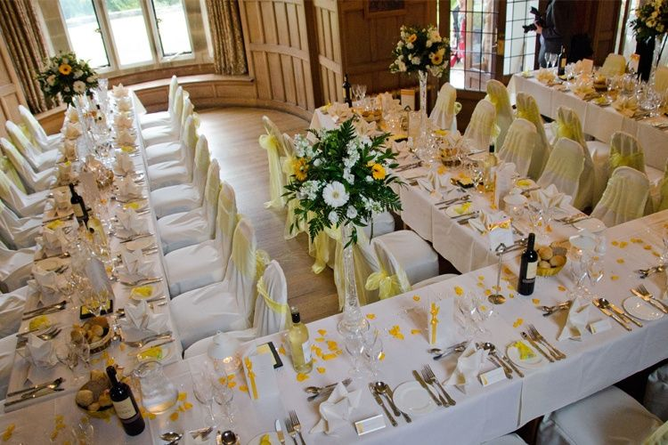 Old Hall set for a wedding breakfast