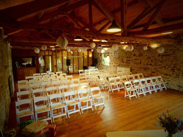 Grain loft Ceremony set up