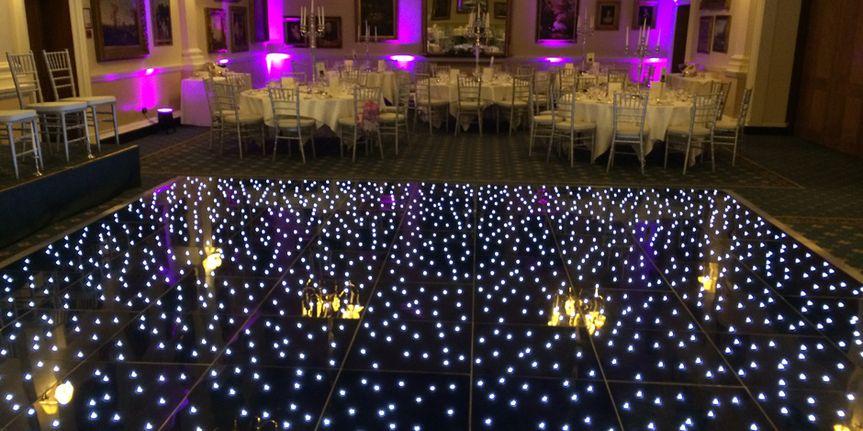 Black starlit floor
