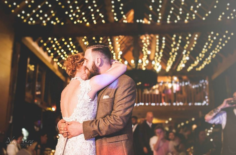 A first dance under our fairy lights