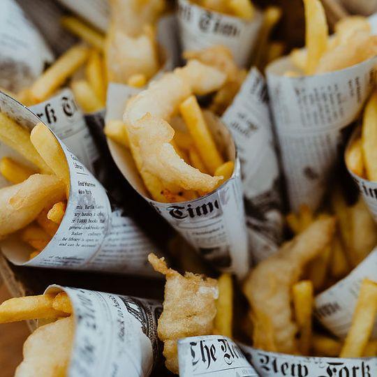 Fish & chip canapés