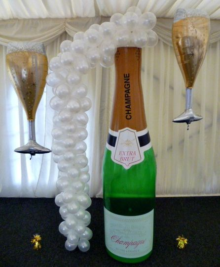 Giant Champagne Bottle And Bub