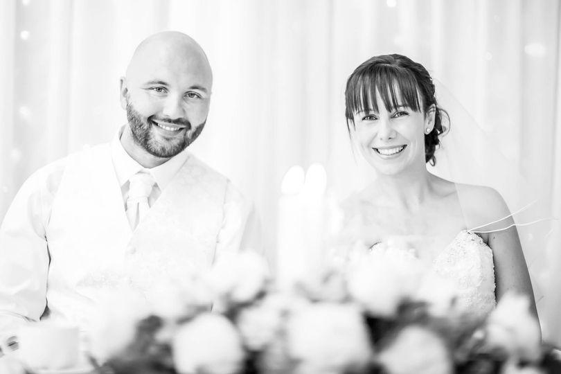 Couple wedding table