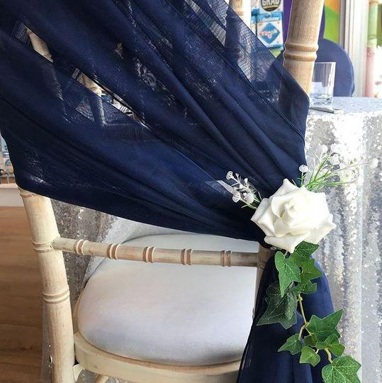 Wedding chair sash