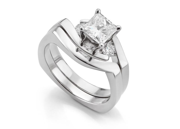 Custom shaped wedding rings