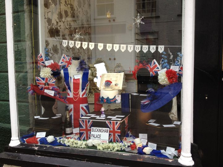 Queen's 90th Birthday Window