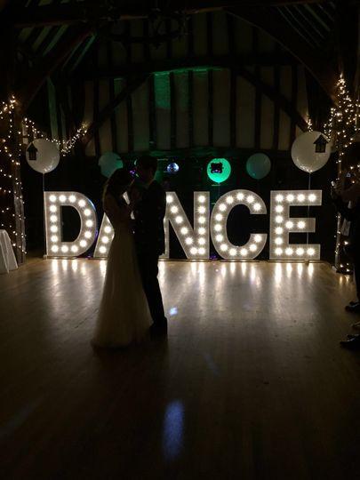Giant DANCE Letter Lights