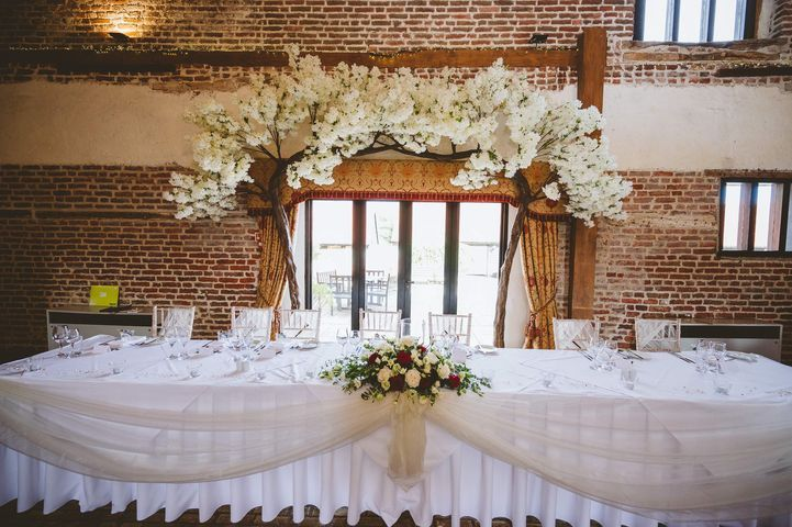 Top Table Blossom Tree Arch