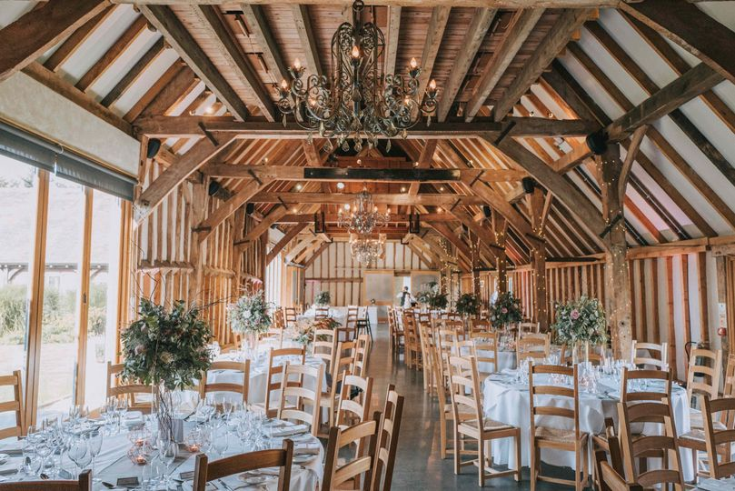 Rustic and refined wedding reception