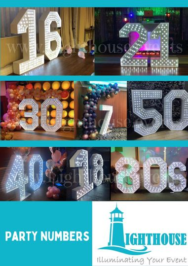 5ft Light up numbers