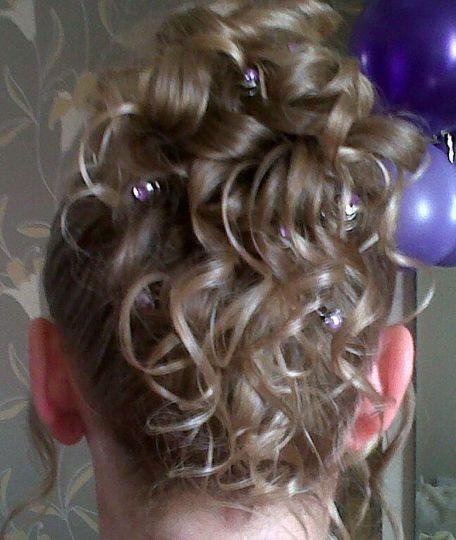 Bridal hair up - fine hair