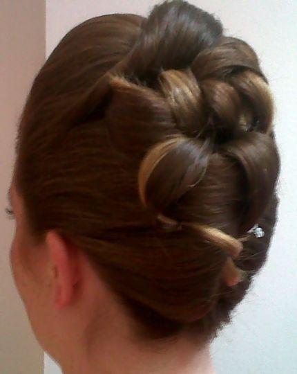 Bridal hair up