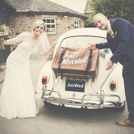 Just married beetle wedding