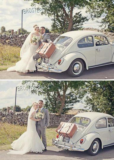 Bride, Groom, Beetle Wedding