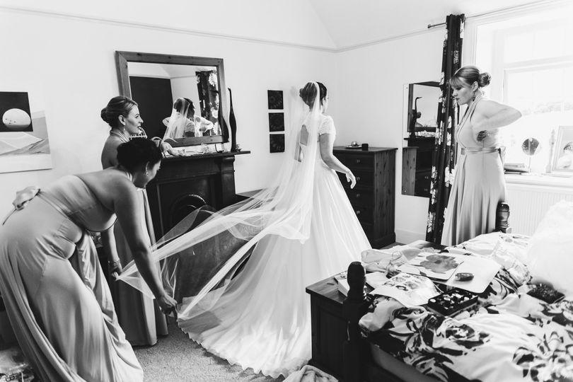 Nikki during bridal prep