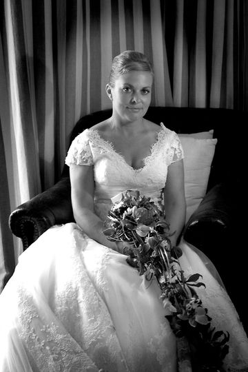 Before with bouquet