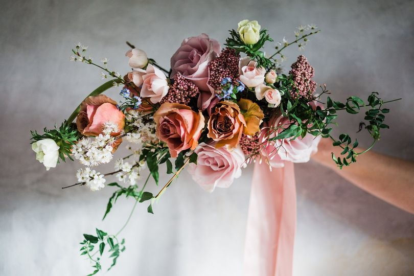 Country style spring bouquet
