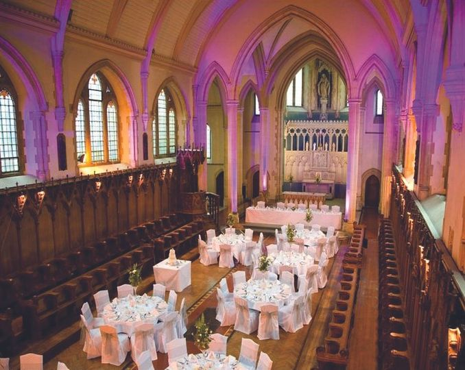 The Chapel dressed for a wedding breakfast….