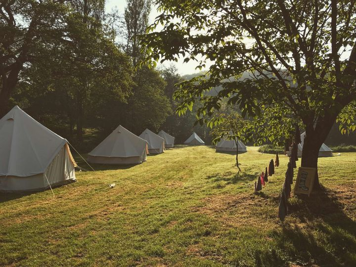 Glamping on meadows
