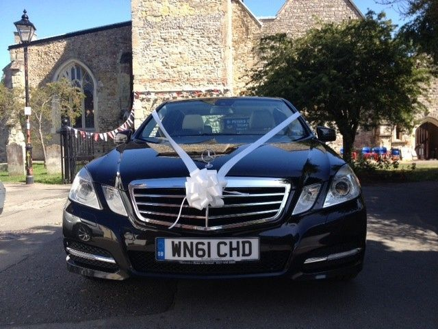 Black Mercedes E class wedding