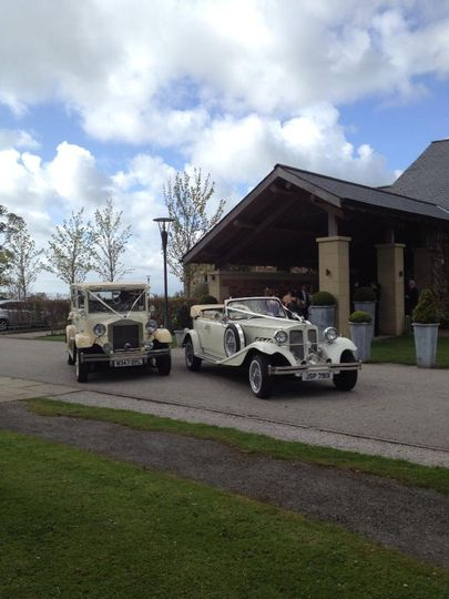 Beauford and Regal cars in ivory