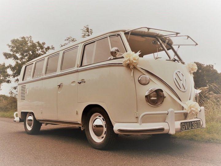VW Campervan for boho-chic weddings