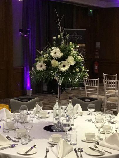 Martini vase arrangement